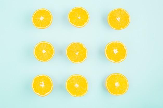 Praça de limão vista superior Foto gratuita