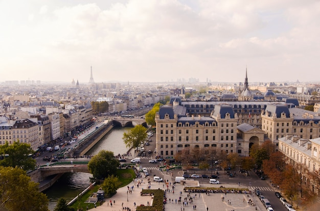 Praça de notre dame em paris Foto Premium