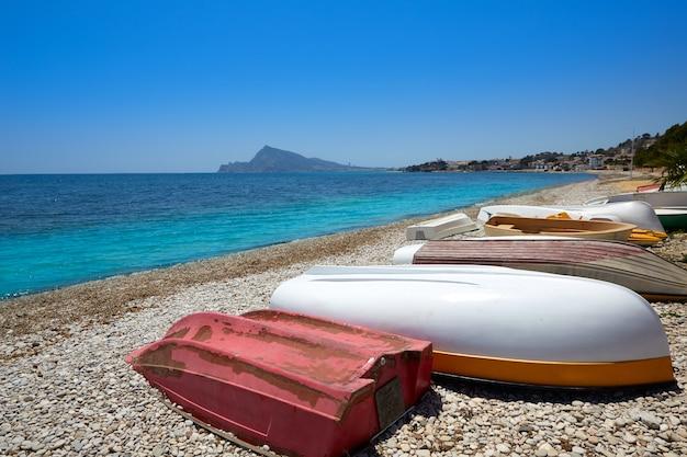 Praia de altea em alicante playa de l olla Foto Premium