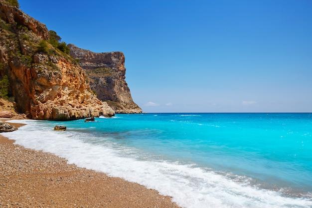 Praia de cala del moraig benitachell alicante Foto Premium