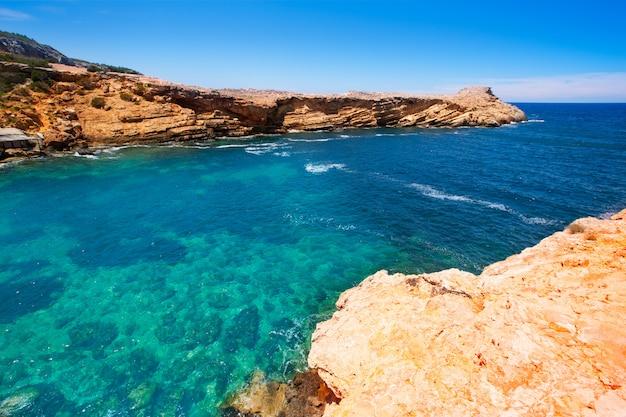 Praia de ibiza punta de sa galera em san antonio Foto Premium