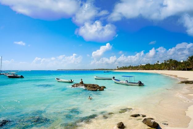 Praia do caribe akumal na riviera maya Foto Premium