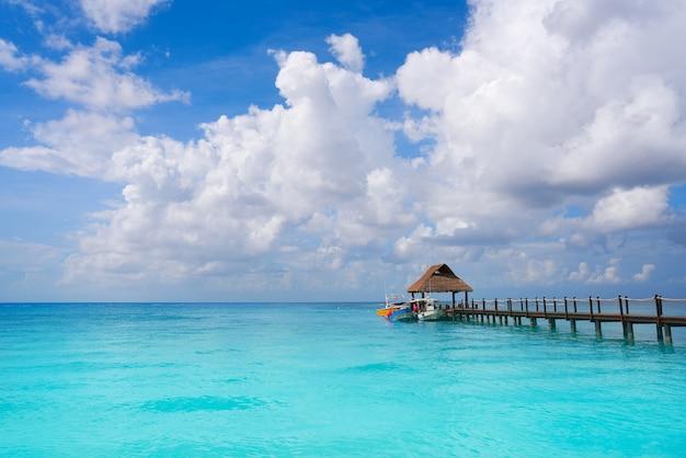 Praia ilha cozumel, riviera maia, méxico Foto Premium