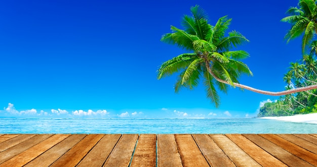 Praia paradisíaca tropical Foto Premium