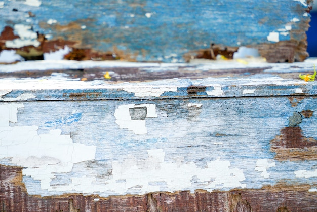 Pranchas de madeira velhas e rústicas textura de fundo Foto Premium