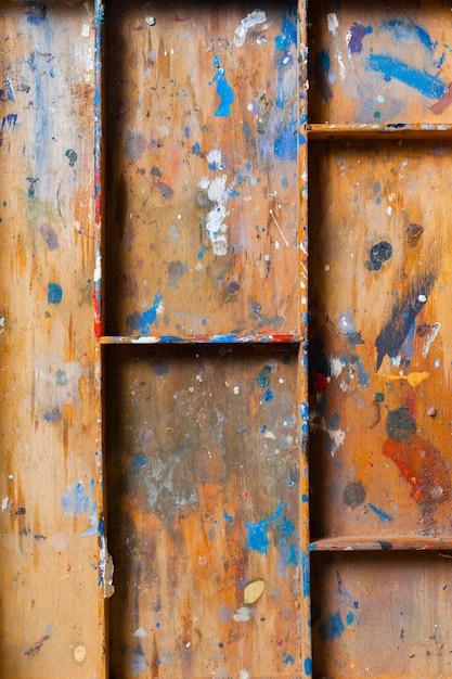 Prateleira de madeira particionada Foto Premium