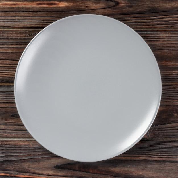 Prato cinza vazio Foto Premium