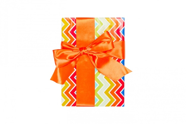 Presente de natal artesanal isolado Foto Premium