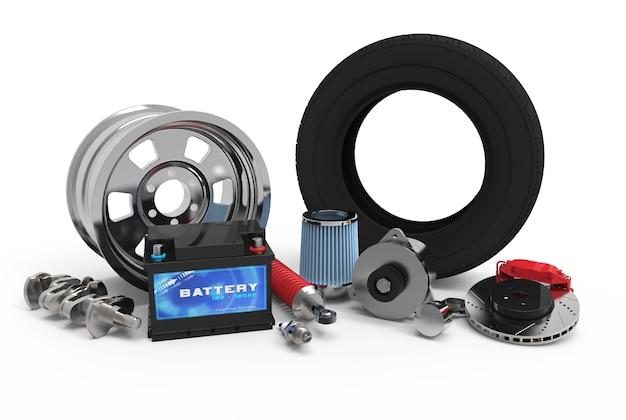 Prestação de peças automotivas para reparo Foto Premium