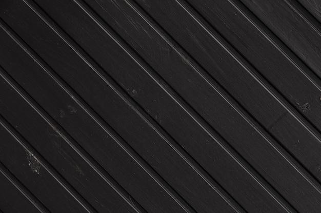Preto de madeira, sem costura padrão, textura Foto Premium