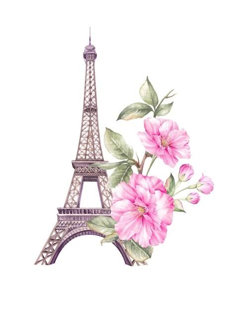 Primavera ilustração paris. Foto Premium