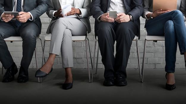 Processo de contratação de funcionários Foto Premium