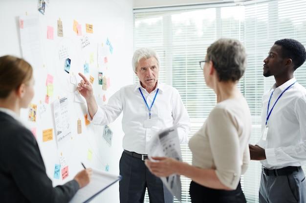 Processo de trabalho na sala de reuniões Foto gratuita