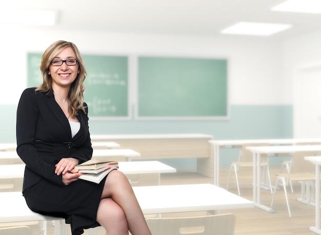 Professora jovem Foto Premium