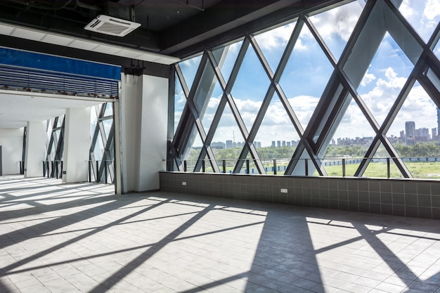 Projeto de arquitetura de interiores vazio moderno Foto Premium