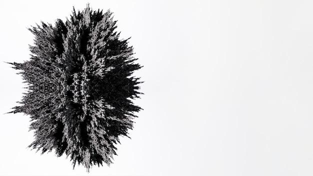 Projeto de barbear metálico cinza oval isolado no fundo branco Foto gratuita
