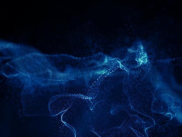 Projeto digital do fundo da onda do techno 3d Foto gratuita