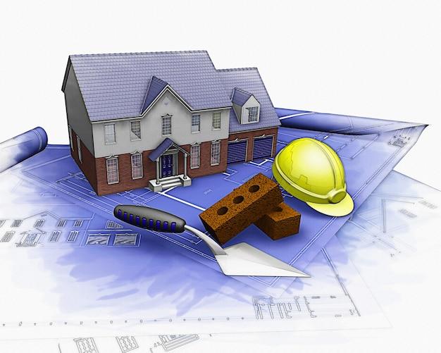 Projeto planos de construção Foto gratuita