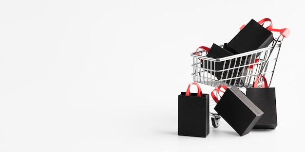 Promoção de cyber monday com espaço de cópia Foto Premium