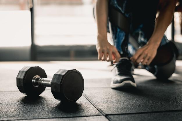 Pronto para treino no ginásio Foto Premium