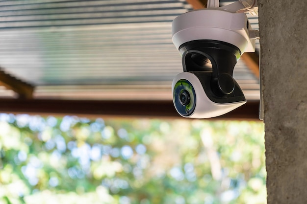 Proteção de segurança da câmera de circuito fechado Foto Premium
