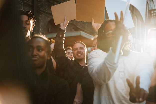 Protestos pacíficos nas ruas de kansas city Foto Premium