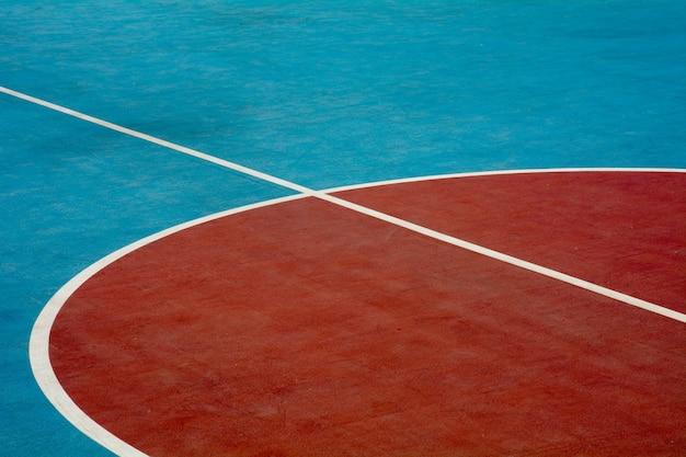 Quadra de basquete closeup Foto Premium