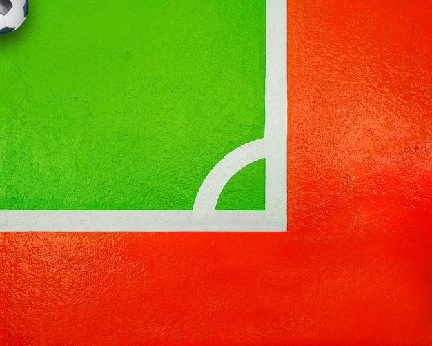 Quadra de futsal quadra de esportes Foto Premium