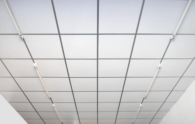 Quadrado branco interno dos tetos Foto Premium