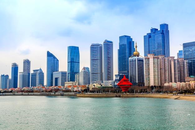 Quadrados, cidades, skyline, fundo, seascape, arquitetura Foto gratuita