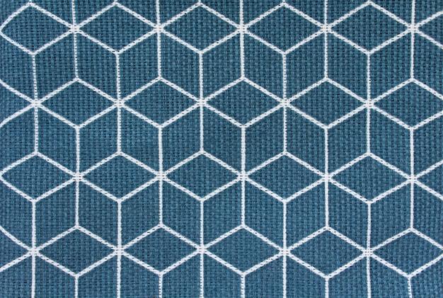 Quadrados de tecido de fundo azul Foto Premium