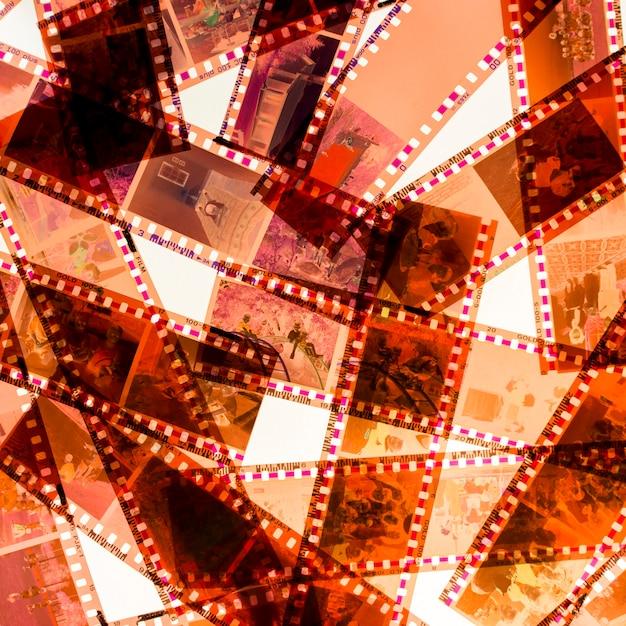 Quadro completo de listras de filme isolado no fundo branco Foto gratuita