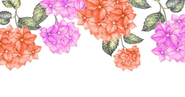 Quadro de flores de cor. Foto Premium