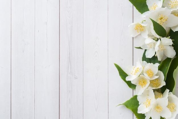 Quadro de flores de jasmim Foto Premium