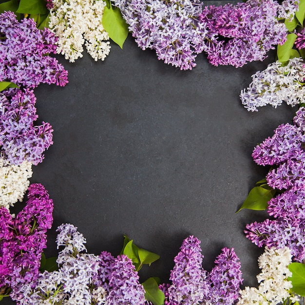 Quadro de flores lilás Foto Premium