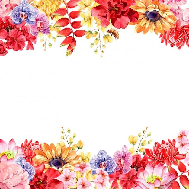 Quadro de flores tailandesas Foto Premium