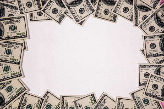 Quadro de notas de dólar Foto gratuita