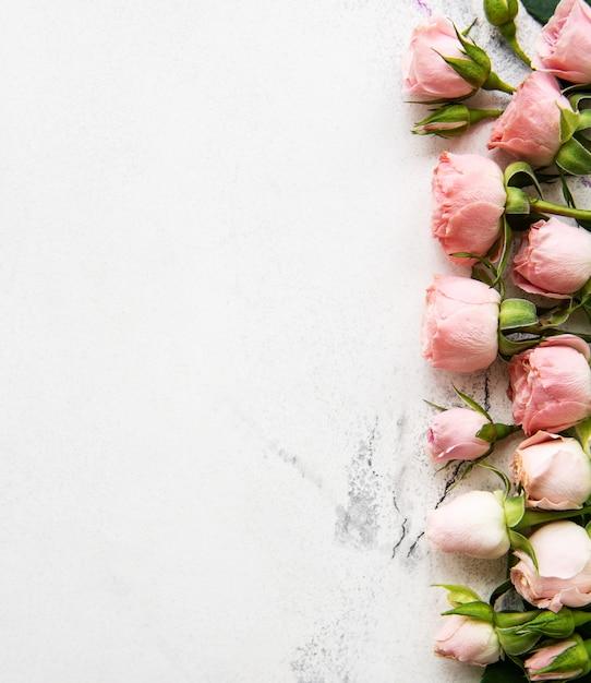 Quadro de rosas cor de rosa Foto Premium