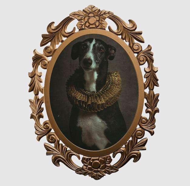 Quadro de um cachorro no estilo renascentista Foto Premium