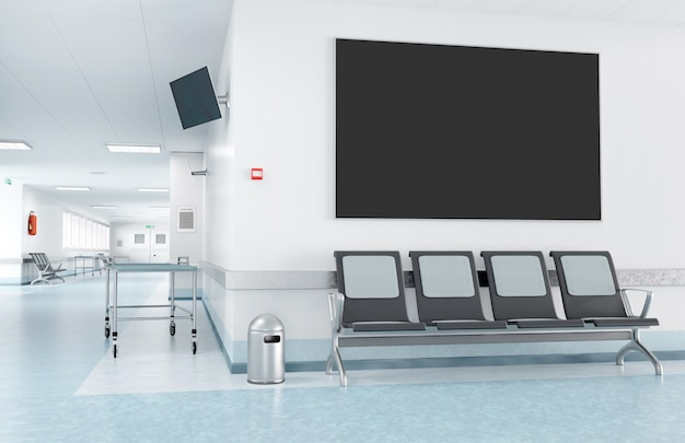 Quadro em um hospital da sala de espera Foto Premium