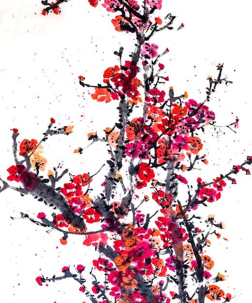 Quadro gráfico china japão botânica de água Foto gratuita
