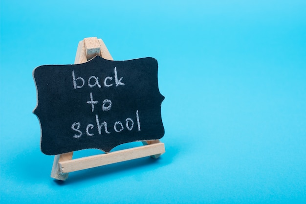 Quadro-negro com palavras de volta às aulas Foto Premium