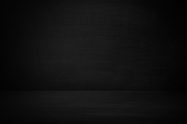 Quadro-negro e quadro de parede da sala de aula com piso em branco, plano de fundo Foto Premium