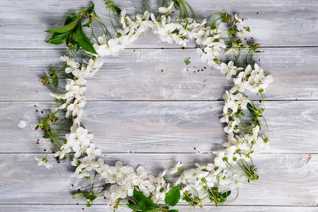 Quadro redondo de flores Foto Premium