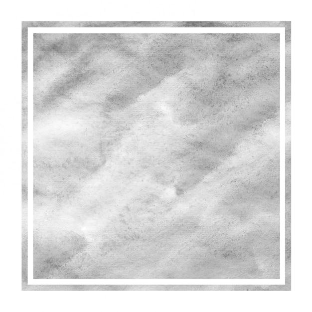Quadro retangular em aquarela de mão monocromático desenhado Foto Premium