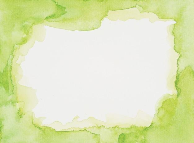 Quadro verde de tintas na folha branca Foto gratuita