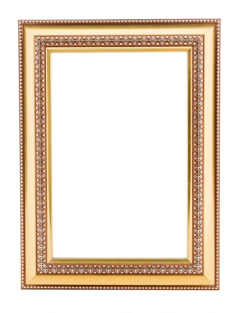 Quadro vintage de ouro. elegante vintage ouro / moldura dourada com perolização Foto Premium