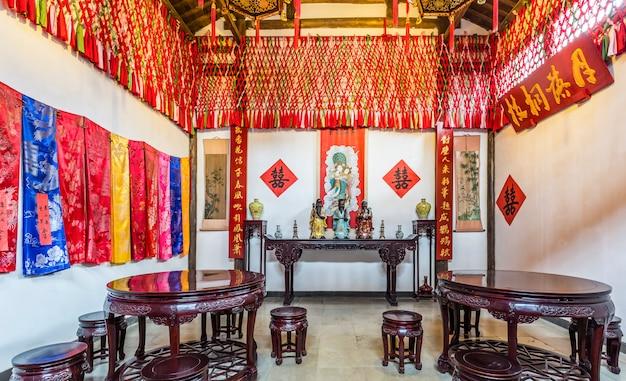 Quarto antigo do casamento em wuzhen, china Foto Premium