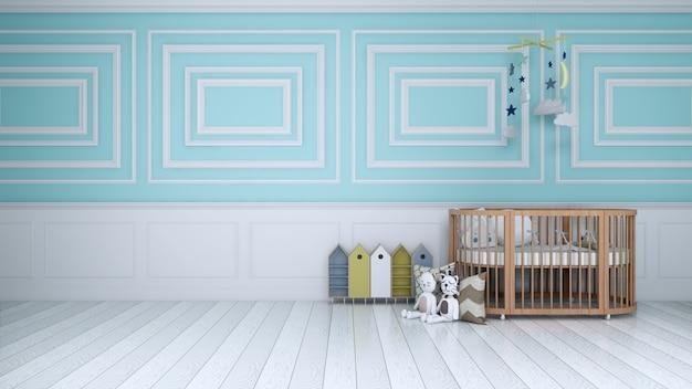 Quarto azul crianças Foto Premium