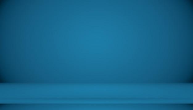 Quarto vazio de fundo abstrato gradiente azul Foto Premium